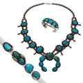 Estate Jewelry:Lots, Turquoise, Blue Stone, Silver Jewelry . ... (Total: 6 Items)