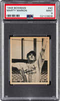 Baseball Cards:Singles (1940-1949), 1948 Bowman Marty Marion #40 PSA Mint 9. ...