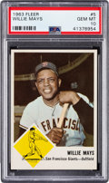 Baseball Cards:Singles (1960-1969), 1963 Fleer Willie Mays #5 PSA Gem Mint 10 - Pop Two....
