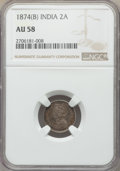 India:British India, India: British India. Victoria 4-Piece Lot of Certified 2 Annas NGC, ... (Total: 4 coins)