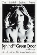 """Movie Posters:Adult, Behind the Green Door (Mitchell Brothers Film Group, 1972). Folded,Very Fine+. One Sheet (24"""" X 36""""). Adult.. ..."""