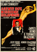 "Movie Posters:James Bond, Goldfinger (United Artists, 1964). Folded, Very Fine-. Italian 4 - Fogli (55.25"" X 77"").. ..."