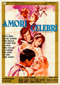 "Movie Posters:Foreign, Famous Love Affairs (Rank, 1961). Folded, Very Fine-. Italian 4 - Fogli (55.25"" X 77.25"") Giuliano Nistri Artwork. Foreign...."