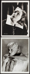 "Movie Posters:Drama, Greta Garbo In Queen Christina & Other Lot (MGM, c. 1933).Overall: Very Fine. Portrait Photo & Restrike Photo (8"" X 10"").D... (Total: 2 Items)"