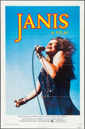 """Movie Posters:Rock and Roll, Janis (Universal, 1975). Folded, Very Fine-. One Sheet (27"""" X 41"""") Jim Marshall Photography. Rock and Roll.. ..."""