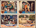 """Movie Posters:Western, The Land of Missing Men & Other Lot (Tiffany, 1930). Very Fine.Lobby Cards (4) (11"""" X 14""""). Western.. ... (Total: ..."""