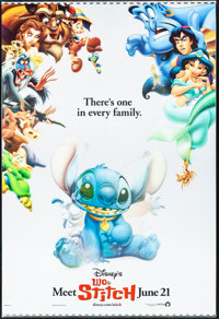 "Lilo & Stitch (Buena Vista, 2002). Rolled, Fine/Very Fine. Lenticular Printer's Proof One Sheet (27"" X 40&q..."