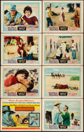 """Movie Posters:Adventure, Legend of the Lost (United Artists, 1957). Fine/Very Fine. LobbyCard Set of 8 (11"""" X 14""""). Adventure.. ... (Total:..."""