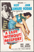 "Movie Posters:Film Noir, A Lady without Passport (MGM, 1950). Folded, Fine+. One Sheet (27""X 41""). Film Noir.. ..."