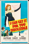 """Movie Posters:Drama, I Can Get It for You Wholesale (20th Century Fox, 1951). Folded,Very Fine-. One Sheet (27"""" X 41""""). Drama.. ..."""