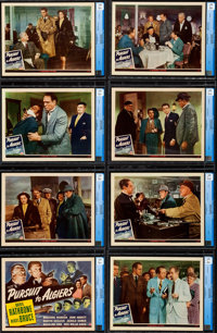 "Pursuit to Algiers (Universal, 1945). Near Mint. CGC Graded Lobby Card Set of 8 (11"" X 14""). ... (Total: 8 Ite..."