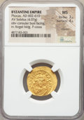 Ancients:Byzantine, Ancients: Phocas (AD 602-610). AV solidus (22mm, 4.07 gm, 7h). NGCMS 3/5 - 4/5, clipped....