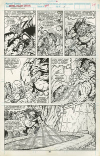 DENNIS JENSEN MARVEL HOLIDAY SPECIAL Panel Page Original Art (Marvel Comi