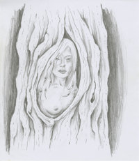BRAV NOCTURNE WOOD NYMPH ILLUSTRATION Illustration Original Art (2010)