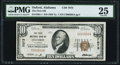 National Bank Notes:Alabama, Oxford, AL - $10 1929 Ty. 1 The First NB Ch. # 7073 PMG Very Fine 25.. ...
