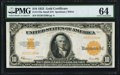 Large Size:Gold Certificates, Fr. 1173a $10 1922 Gold Certificate PMG Choice Uncirculated 64.. ...