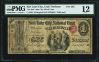 Salt Lake City, Utah Territory - $1 Original Fr. 382 The Salt Lake City NB of Utah Ch. # 1921 PMG Fine
