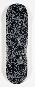 Collectible:Contemporary, Takashi Murakami X ComplexCon. Flowers (Black), 2018. Offset lithograph in colors on skate deck. 32 x 8 inches (81.3 x 2...