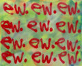 Paintings:Contemporary   (1950 to present), AMD (American, b. 1988). ew., 2015. Spray paint on panel. 29-3/4 x 23-1/2 inches (75.6 x 59.7 cm). Signed and dated on t...