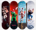Collectible:Contemporary, Supreme X Mike Hill. Set of Four Skate Decks, 2017. Offset lithographs in colors on skate decks. 32 x 8 inches (81.3 x 2... (Total: 4 Items)