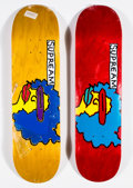 Collectible:Contemporary, Supreme X Mark Gonzales. Ramm, set of two, 2017. Screenprints in colors on skate decks. 32 x 8 inches (81.3 x 20.3 cm) (... (Total: 2 Items)