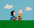"""Animation Art:Production Cel, Peanuts """"It's an Honor, Charlie Brown"""" Lucy and Charlie Brown Sericel (Bill Melendez, c. 1990s). ..."""