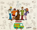 "Animation Art:Limited Edition Cel, ""The Mystery Gang"" Scooby-Doo Model Sheet Limited Edition Cel AP#29/50 (Hanna-Barbera/Warner Brothers, c. 1990s)...."