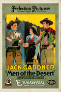 "Movie Posters:Western, Men of the Desert (Essanay, 1917). Folded, Very Fine. One Sheet (28"" X 42"") and Herald (5.5"" X 7"" unfolded).. ... (Total: 2 Items)"