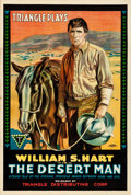 "Movie Posters:Western, The Desert Man (Triangle, 1917). Folded, Very Fine+. One Sheet (27""X 41"").. ..."