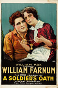 """Movie Posters:Drama, A Soldier's Oath (Fox, R-1918). Folded, Fine+. One Sheet (27.5"""" X41"""").. ..."""