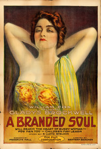 "A Branded Soul (Fox, 1917). Folded, Fine. One Sheet (28"" X 41"")"