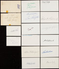 Autographs:Index Cards, Baseball Greats & Hall of Famers Signed Index Card Collection with Paige, Hafey, Schalk, and Others (82)....