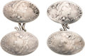 Political:Inaugural (1789-present), George Washington: Complete Set of 18th Century Pictorial Silver Cuff Links....