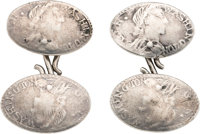 George Washington: Complete Set of 18th Century Pictorial Silver Cuff Links