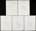 Autographs:Letters, 1941-45 William Harridge Signed Document Lot of 5.... (Total: 5items)