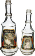 Advertising:Medicinal, Two Label-Under-Glass Barber Bottles.... (Total: 2 Items)