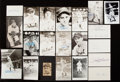 Autographs:Index Cards, 1945 Detroit Tigers - World Series Champions - Signed Index/Postcard Lot of 21....