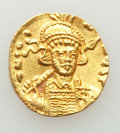 Ancients:Byzantine, Ancients: Constantine IV Pogonatus (AD 668-685). AV solidus (18mm,4.30 gm, 7h). XF, clipped, edge filed....