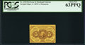 Fractional Currency:First Issue, Fr. 1230 5¢ First Issue PCGS Choice New 63PPQ.. ...
