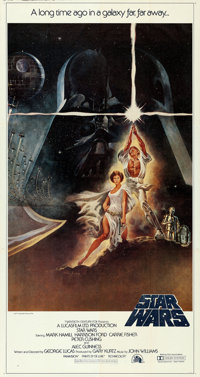 "Star Wars (20th Century Fox, 1977). Folded, Very Fine. International Three Sheet (41"" X 77""). Tom Jung Artwork..."