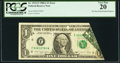 Error Notes:Foldovers, Printed Foldover Error Fr. 1915-F $1 1988A Federal Reserve Note.PCGS Very Fine 20.. ...