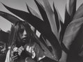 Photographs:19th Century, Mariana Yampolsky (American, 1925-2002). Young Girl with Magay Plant, 1992. Gelatin silver. 7-1/2 x 10-1/4 inches (19.1 ...