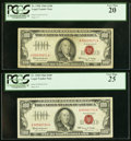Small Size:Legal Tender Notes, Fr. 1550 $100 1966 Legal Tender Notes. Two Examples. PCGS Graded Very Fine 20; Very Fine 25.. ... (Total: 2 notes)
