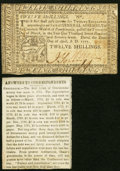 Colonial Notes:Pennsylvania, Pennsylvania April 10, 1777 12s;. Circa 1860s Newspaper Clipping Discussing the Greenbacks of Today and Continental Curren... (Total: 2 items)