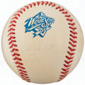 Autographs:Baseballs, 1999 Derek Jeter World Series Single Signed Baseball....