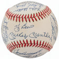 Autographs:Baseballs, 1961 New York Yankees Reunion Team Signed Baseball (33 Signatures)....