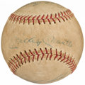 Autographs:Baseballs, 1966 New York Yankees Multi-Signed Baseball with Mantle & Maris (6 Signatures)....
