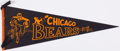 Football Collectibles:Others, c. 1940s Chicago Bears Pennant....