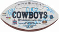 Autographs:Footballs, Dallas Cowboys Greats Multi-Signed Football (20 Signatures)....