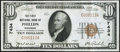 National Bank Notes:Wisconsin, Phillips, WI - $10 1929 Ty. 1 The First NB Ch. # 7434 Very Fine.. ...